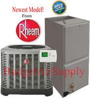 Rheem/ruud 3 Ton 16 Seer A/c Split System Ra1636aj1na+rh1t3617stanja on sale