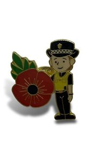 WPC Female officer Poppy Pin Badge Police Lady Police Woman