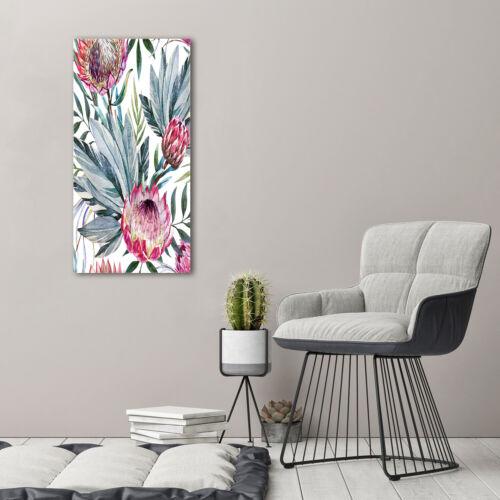 Wand-Bild Kunstdruck aus Hart-Glas Hochformat 50x100 Zuckerbüsche