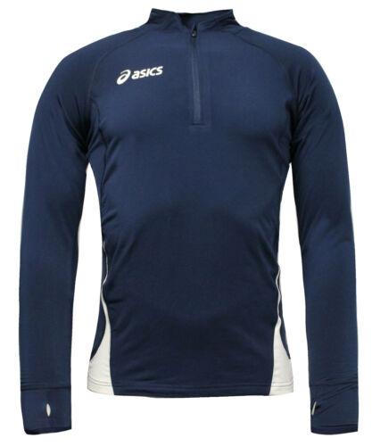 Asics Long Sleeve Jersey Sweat Running Mens Fitness Top Navy T246Z6 5001 A78D