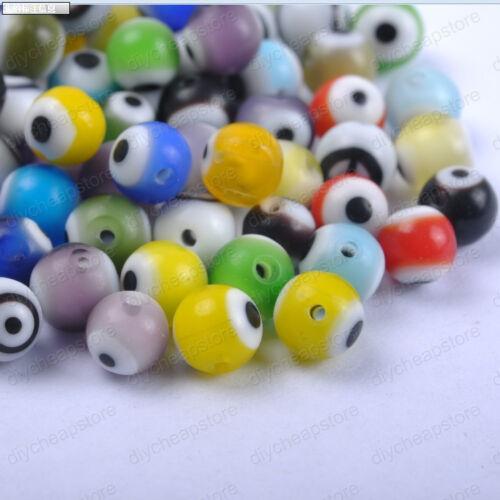Quality Shark eye round Ball glass spacer Beads Choose  4MM 6MM 8MM 10MM 12MM