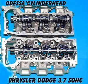 PAIR JEEP LIBERTY DODGE DURANGO DAKOTA 3.7 SOHC CYLINDER HEADS V6 |