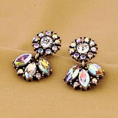 Hot New Fashion Women Jewelry Rhinestone Crystal Flower Dangle Earring Gift