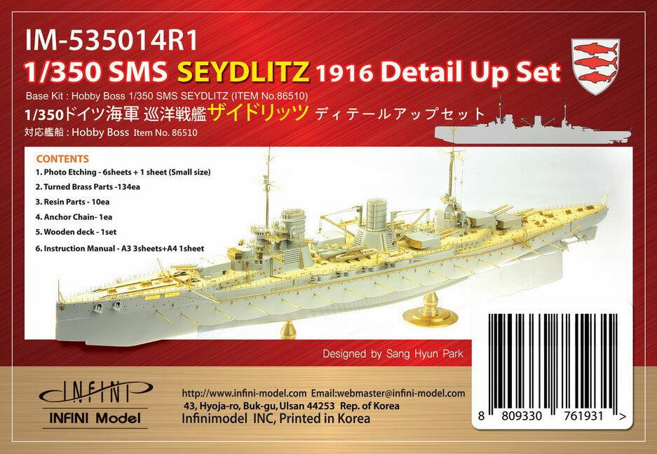 Infini modellllerlerl 1  350 SMS Seydlitz 1916 Detaljuppsättning för Hobby Boss kit