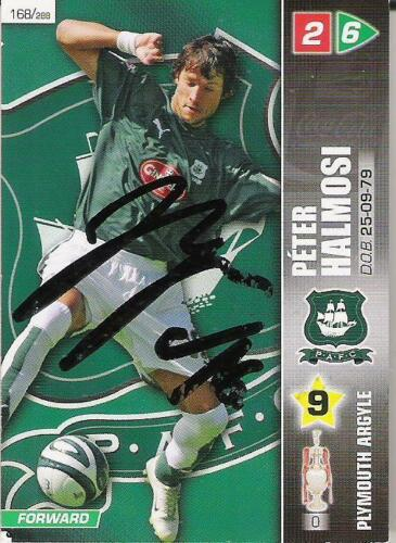 A Panini 2008 card. Personally signed by Peter Halmosi of Plymouth Argyle.