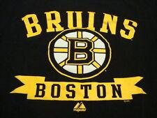 NHL Boston Bruins National Hockey League Fan Majestic Apparel Black T Shirt M
