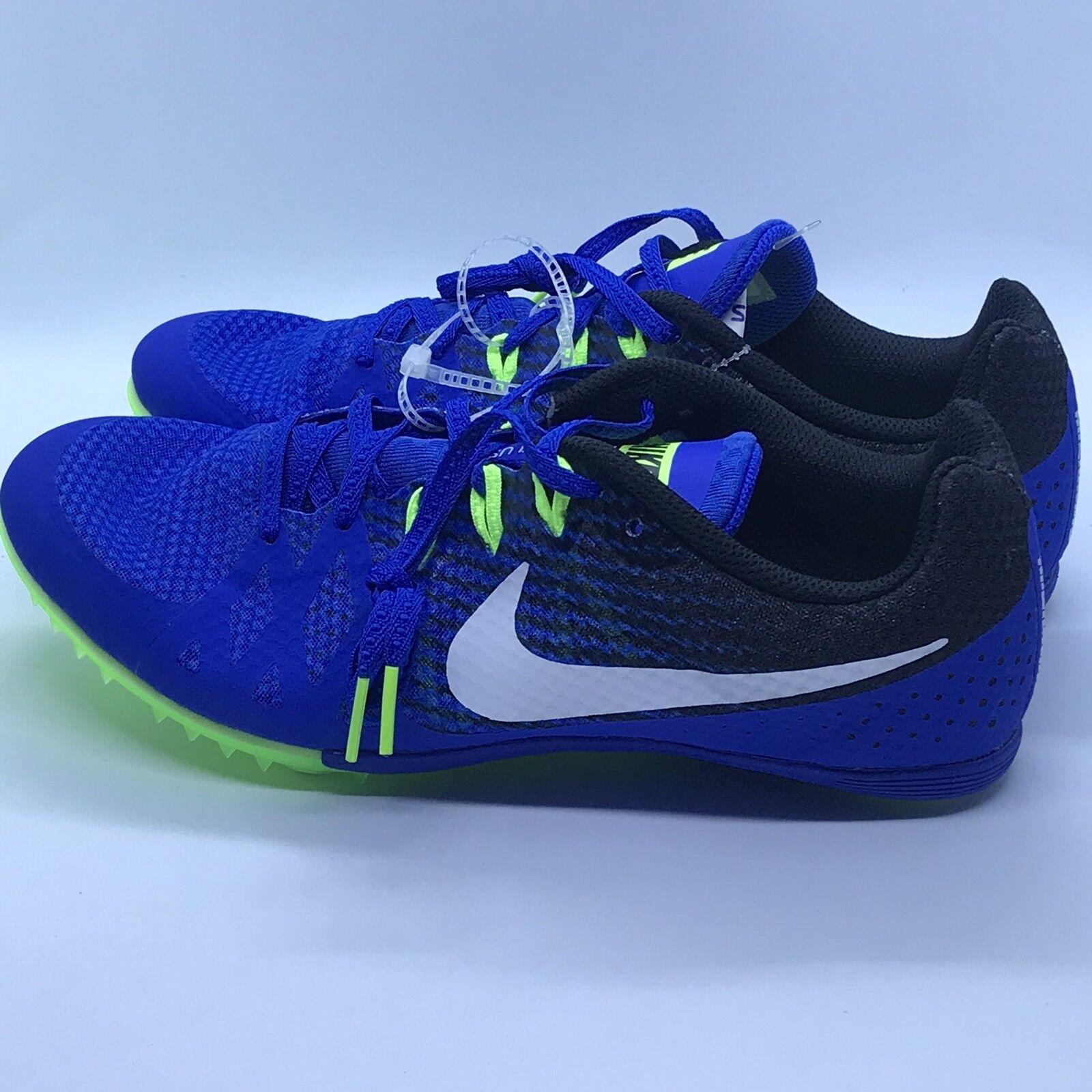 Nike Zoom Rival M 8 Track Field Sprint Spikes shoes Sz 11.5 blueeGreen 806555-413
