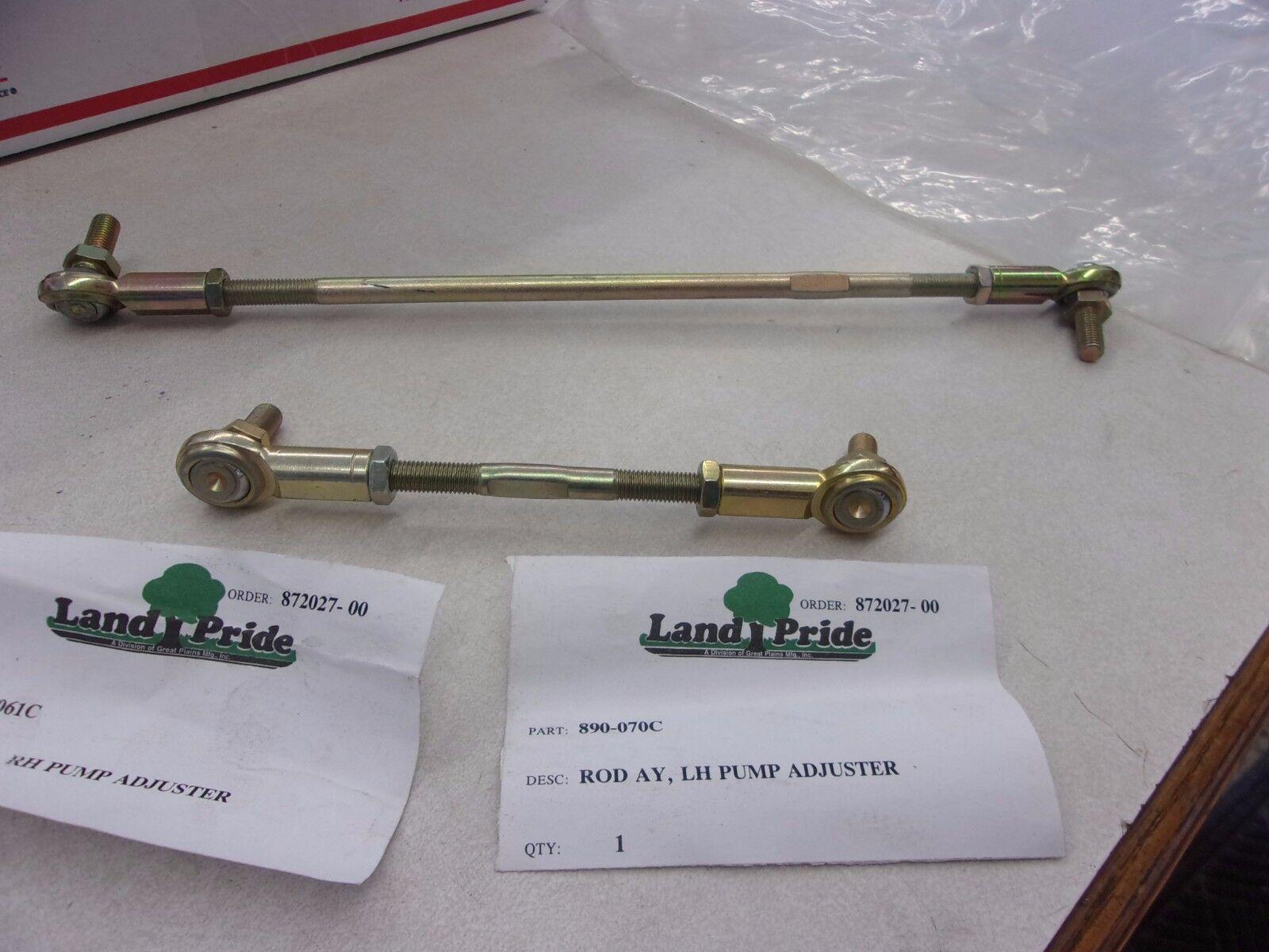 Original Equipment Manufacturer Land Pride 890-061 C Varilla Ay RH bomba Ajustador 890-070 C Varilla Ay, LH BOMBA adjuste