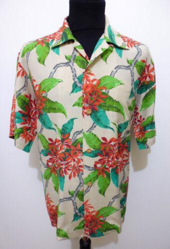 Auth Hawaii vintage 40s WWII Men's Shirts Silk Man