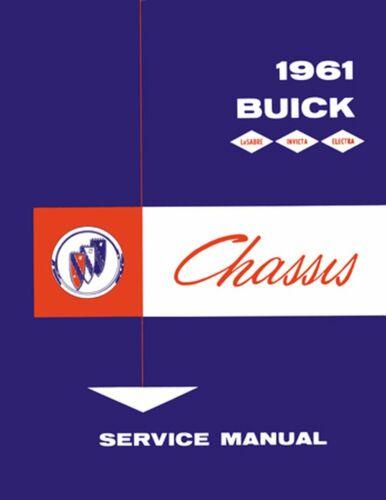 OEM Repair Maintenance Shop Manual Buick Electra//Invicta//Lesabre Chassis 1961
