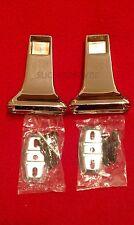 """Set 3/4"""" Towel Metal Chrome Bar Bracket Concealed Screw Mount P/N 01-R9300P"""