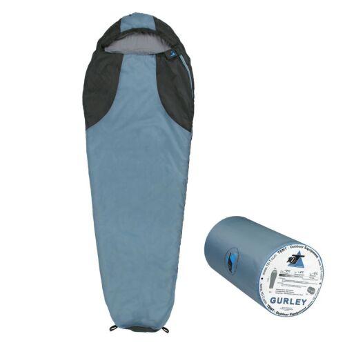 Gurley 225x80 mummy saco de dormir 10° cálido 1200g azul claro 200g/m²