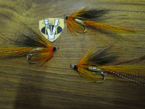 3 V Fly Size 6 Ultimate Silver Cascade Piglet Double Salmon Flies
