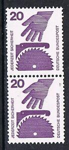 Bund-696-senkr-Paar-m-br-Ausgleichzahn-u-Nr-005-Unfallverhuetung-20-Pf