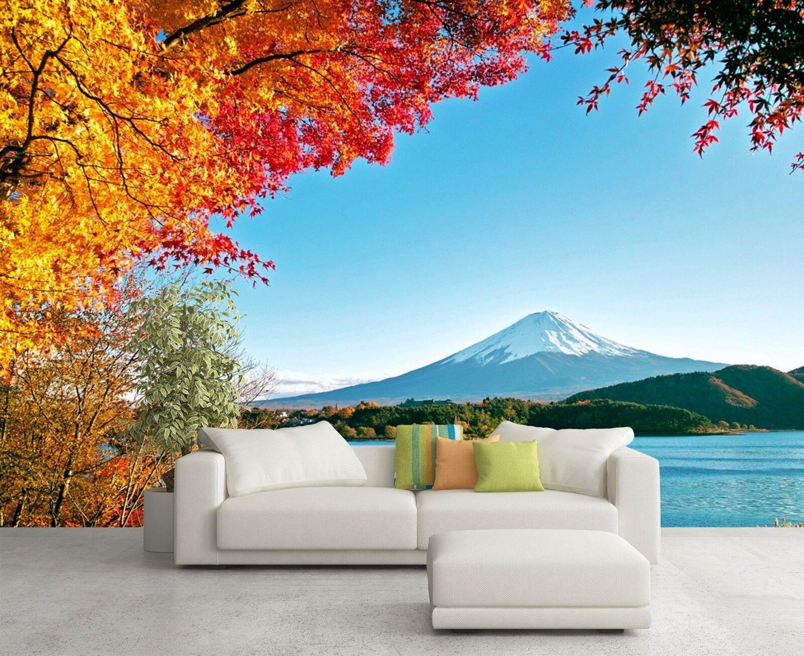 3D Herbstlaub See 582 Tapete Tapeten Mauer Foto Familie Tapete Wandgemälde DE