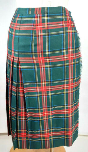 Aljean of Canada Tartan Pleaded Skirt Size