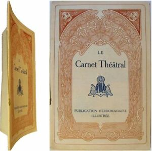 Frugal Le Carnet Théâtral N°12 Mars 1909 Grands Hotels De Paris Photos Actrices Brésil
