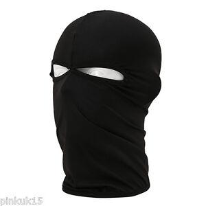 New-Black-Ultra-thin-2-hole-Balaclava-Ski-Moto-Bike-Face-Mask-Sports-Swat-SAS