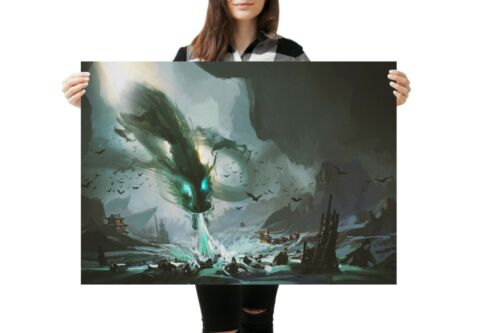 A1Ancient Chinese Dragon Poster Art Print 60 x 90cm 180gsm Gamer War #14046