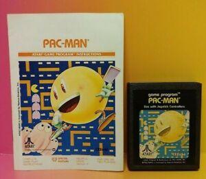 Atari-2600-Pac-Man-Game-amp-Instruction-Manual-Tested-Works-Rare