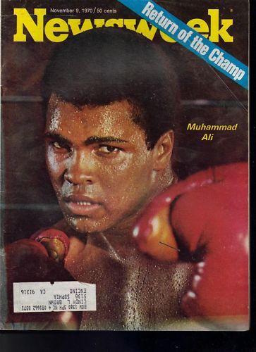 Newsweek Muhammad Ali November 9, 1970