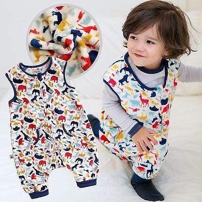 """Dynamic Vaenait Baby Kids Boys Ultra Soft Blanket Sleepsack """"mf.white Dino Park"""" 1t-7t"""