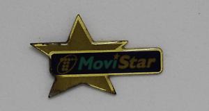 PIN Insignia MOVISTAR Telefonia, Realizado en metal.  Años 90.