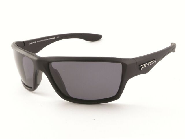 64cad50124a Peppers Pipeline Mp5609-1 Polarized Wrap Sunglasses Matte Black smoke 65 Mm