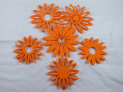 6 fieltro flores streudeko centro de mesa streuelemente bricolaje tarjetas diseño 49+63mm