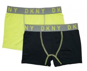 c8790709b7ab25 DKNY Boys' Black & Lime 2 Pack Performance Boxer Brief Size S M L XL ...