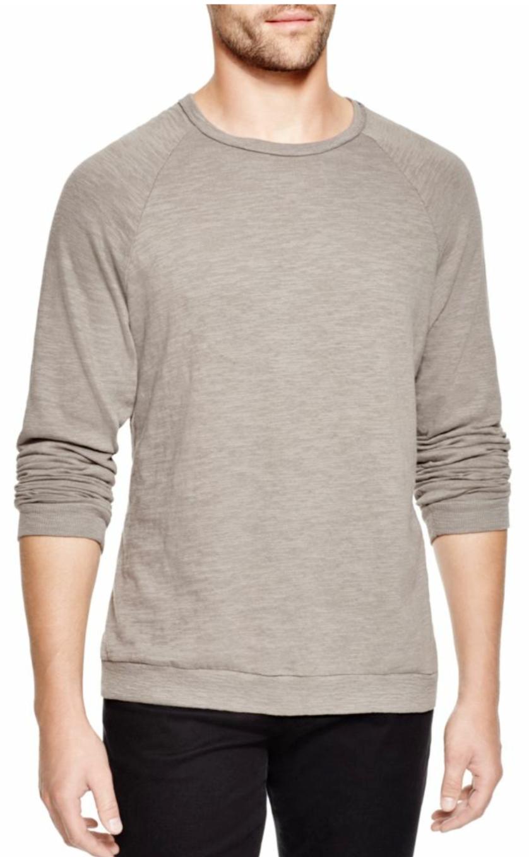 Rag & Bone Men's Charcoal grau Standard Issue Long Sleeve Raglan T-Shirt