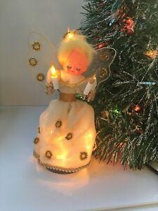 Christmas Angel Tree with lights vintage Christmas tree topper
