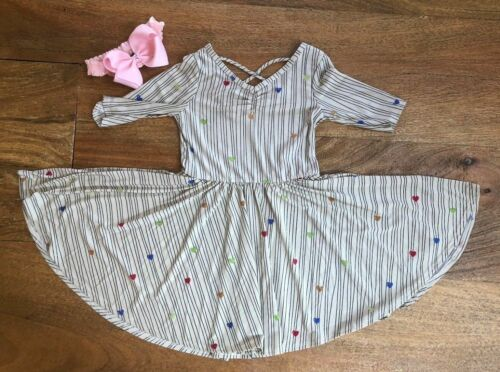 NEW Dot Dot Smile Ballerina Twirly Dress Knit Girl Kids Hearts