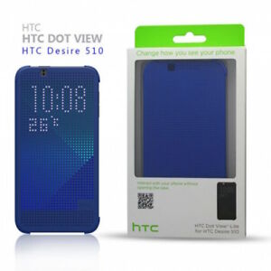 new products 3ac6e dec67 Details about HTC Dot View-Lite Case Cover For HTC Desire 510 Blue