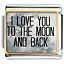 I-Love-You-To-The-Moon-And-Back-Italian-Charms-Cheap-Fit-Classic-Links-Bracelet thumbnail 1