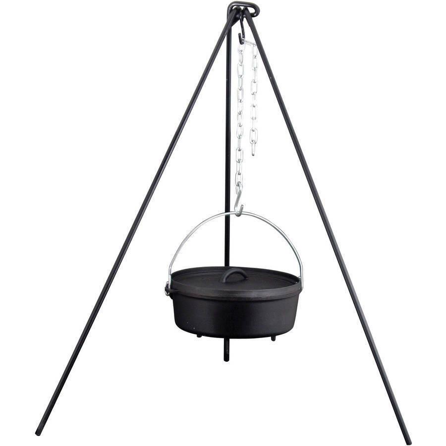 Outdoor Camping Cooking//Lantern Tripod Fr Camp Fire Dutch Oven Pot Pan Holder