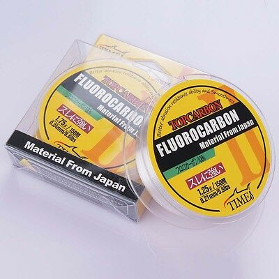 100M/150M 4.4LB-35.2LB Fluorocarbon Fishing Line Color Clear Material From Japan