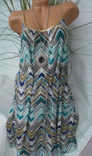 Damen Kleid Markenkleid Trägerkleid bunt gemustert Gr 34 bis 46 264