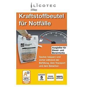 Jerri Flex Notfall Kraftstoff-Beutel Reserve-Kanister Benzin Diesel 5L Warnweste