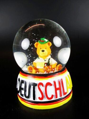 Germany Snow Ball Snowglobe Bear Beer Mug Lederhosen Souvenir Germany