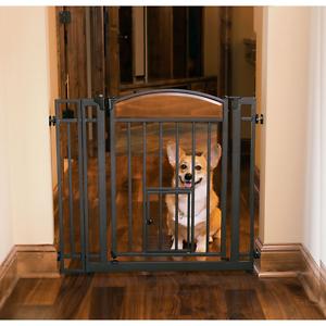 Small Dog Gate Indoor Pet Fence Baby Barrier Adjustable Walk Thru ...