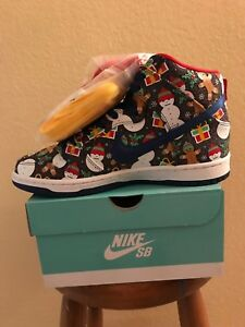 43cc88eb2bad04 Image is loading Nike-SB-Dunk-High-Concepts-Ugly-Christmas-Sweater-