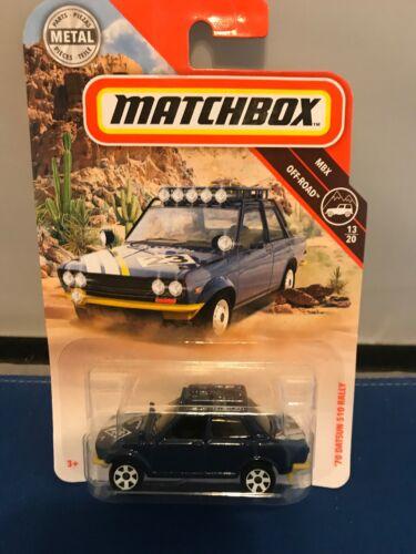 Matchbox 2019 Off-Road series /'70 DATSUN 510 RALLY dark blue 13//20 New