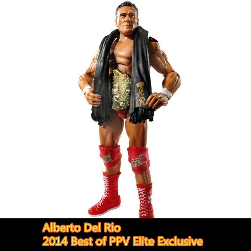 2014 Best of PPV Elite Alberto Del Rio WWE Wrestling Action Figure Toys NO BOX