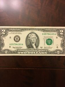 U-S-Currency-Series-2003A-RARE-2-Dollar-Bill-in-Great-Shape-St-Louis