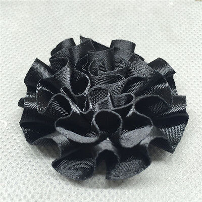 5/25/50pcs satin ribbon big Peony Flower Appliques/craft/Wedding decoration U P