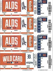 2014-ALDS-FULL-UNUSED-BASEBALL-TICKETS-SHEET-ORIOLES-DETROIT-TIGERS