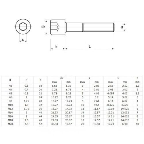 M6 Zinc Plated Hexagon Socket Screw Hex Round Head Carbon Steel Bolts 8.8 Level