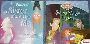 BOOK-FROZEN-A-SISTER-MORE-LIKE-ME-SOFIA-039-S-MAGIC-LESSON-NEW-PAPERBACKS