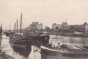 Karlsruhe - Der Rheinhafen - um 1925 oder früher ?